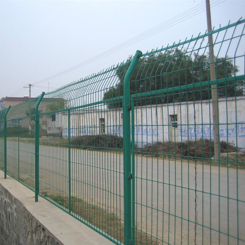 公路框架护栏网 农业圈地种植网 框架护栏网 绿色铁丝框架护栏网