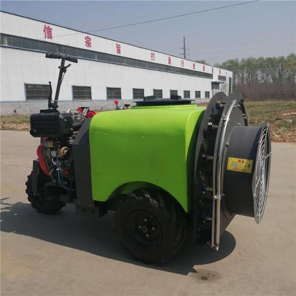 小型植保设备农业果园打药机 柴油机手拉式风送打药机
